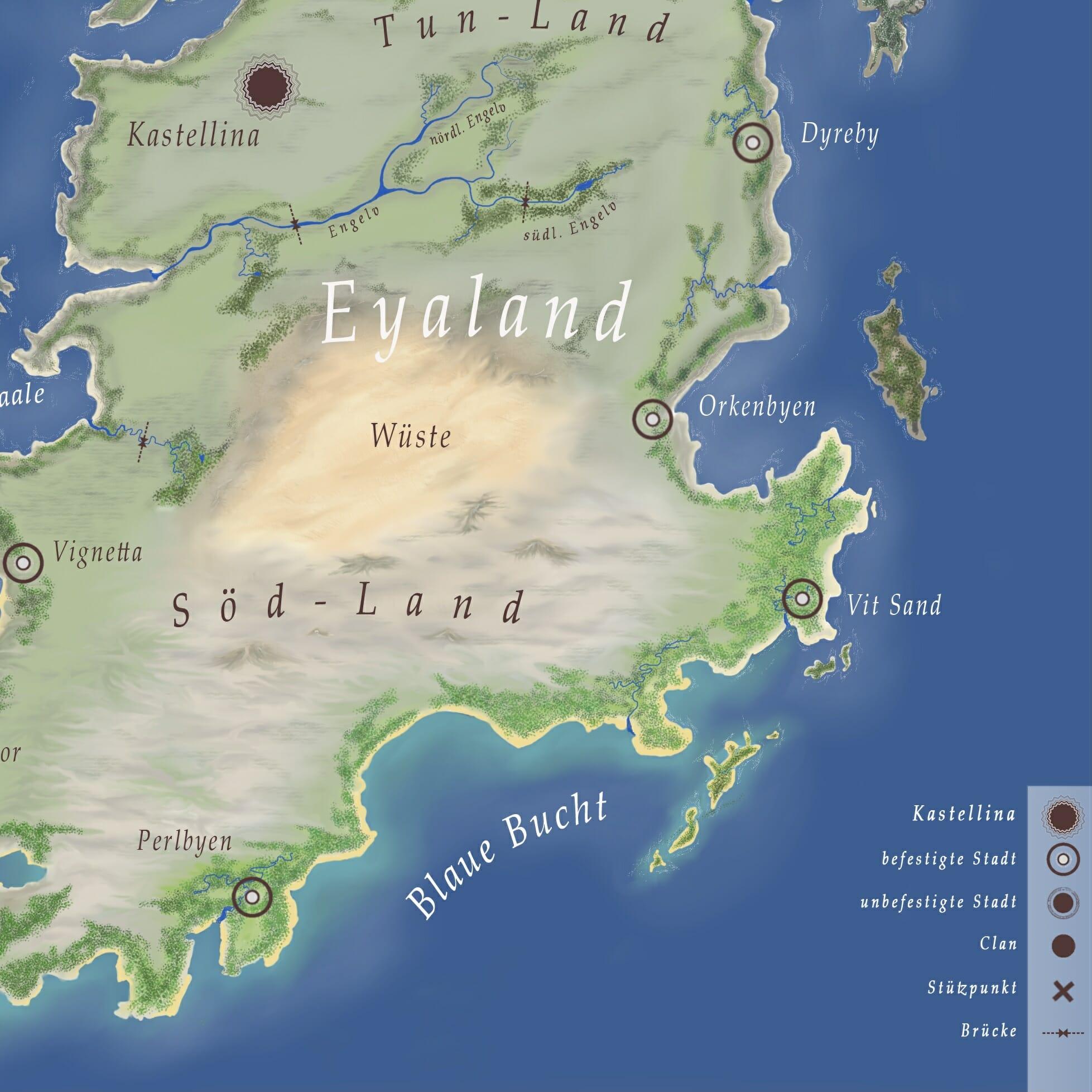 Kartenausschnitt Eyaland - Zoe S. Rosary